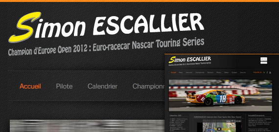 Simon Escallier - Champion d'Europe Open 2012 Euro-racecar